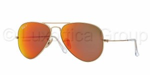 3025 AVIATOR LARGE / Matte Gold / Brown Mirror Red Polarized / ORB3025-112/4D
