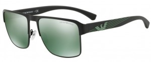 Okulary Emporio Armani 2066 Matte Black / Light Green Mirror Petrol EA2066-30016R
