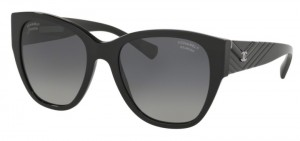 Okulary CHANEL Black / Polarized Grey Gradient CH5412-C501S8