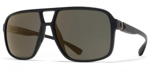 Okulary MYKITA AIR MD1 Pitch Black / Pale Gold Flash  C301