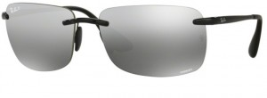 Okulary RAY BAN 4255 Shiny Black / Grey Mirror Silver Polarized ORB4255-601/5J