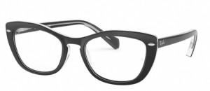 Oprawki RAY-BAN 5366 Top Black on Transparent ORX5366-2034