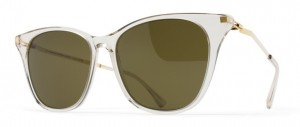 Okulary MYKITA NILAK C1 Champagne / Glossy Gold - Raw Brown Solid C914