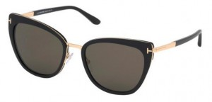 Okulary Tom Ford Black / Smoke FT0717-52F