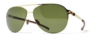 Okulary MYKITA DIXON Gold / Green Polarized C013