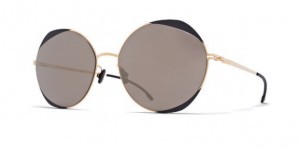 Okulary MYKITA ELISA Gold/Jet Black - Brilliant Grey Solid C167