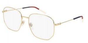 Oprawki Gucci Gold Blue Red White GG0396O-002
