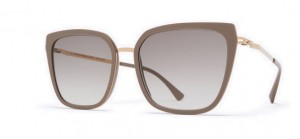 Okulary MYKITA SANNA A42 Champagne Gold/Brown Grey - Original Grey Gradient  C832