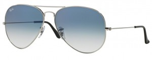 3025 AVIATOR LARGE / Silver / Gradient Light Blue / ORB3025-003/3F