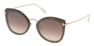 Okulary Tom Ford Dark Havana / Brown Gradient  FT0657-52G