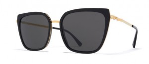Okulary MYKITA SANNA A15 Glossy Gold/Black - Dark Grey Solid  C945