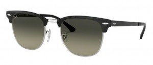 RAY BAN CLUBMASTER METAL Silver Top Black / Grey Gradient ORB3716-900471
