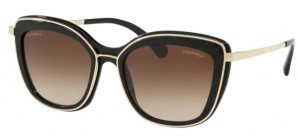 Okulary CHANEL Black / Brown Gradient CH4238-C622S5