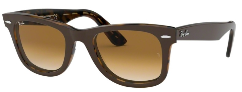 Okulary RAY BAN 2140 ORIGINAL WAYFARER Top Brown on Yellow Havana / Clear Gradient Brown ORB2140-127651