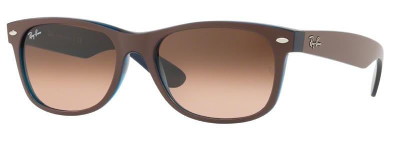Okulary RAY BAN 2132 NEW WAYFARER Matte Choccolat on Opal Yellow / Pink Gradient Brown ORB2132-6310A5