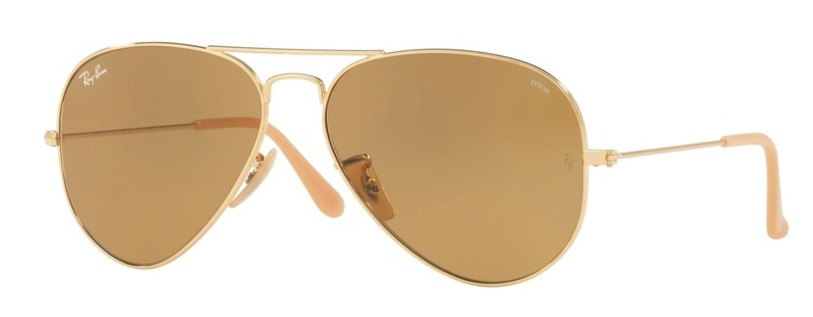 Okulary RAY BAN 3025 AVIATOR LARGE METAL Gold / Photo Brown ORB3025-90644I