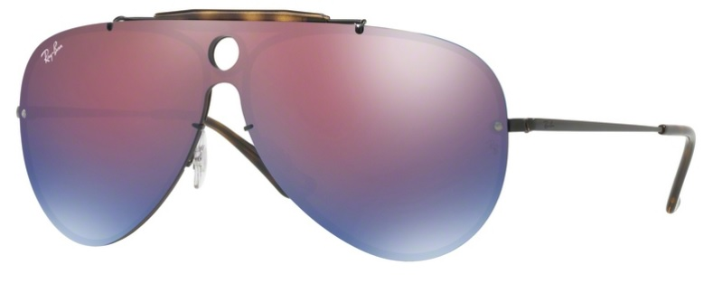 Okulary RAY BAN 3581N Demiglos Black / Dark Violet Mirror Blue ORB3581N-153/7V