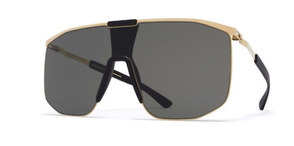 Okulary MYKITA YARROW MH16 Gold Pitch Black / Dark Grey Solid C315