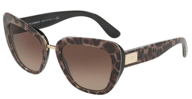 Okulary DOLCE&GABBANA Leoprint / Brown Gradient DG4296-199513