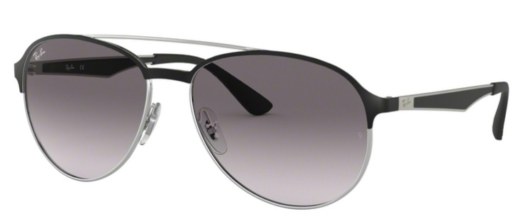 Okulary RAY BAN 3606 Silver on Top Matte Black / Grey Gradient Dark Grey ORB3606-90918G