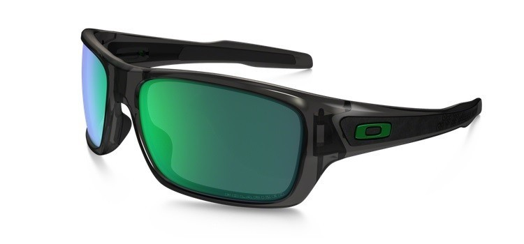 Okulary OAKLEY TURBINE Grey Smoke / Jade Iridium Polarized OO9263-09