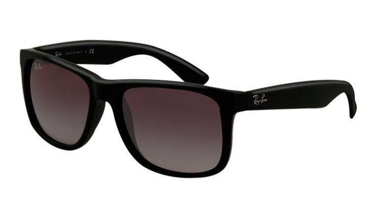 ec9443efa9a967 Okulary RAY BAN 4165 JUSTIN Black Rubber / Gradient Grey ORB4165-601/8G