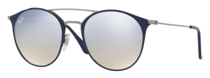 Okulary RAY BAN 3546 Gunmetal Top Blue / Grey Flash Gradient ORB3546-90109U