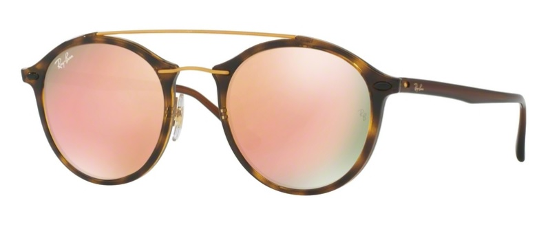 Okulary RAY BAN 4266 Shiny Havana / Light Brown Mirror Pink ORB4266-710/2Y