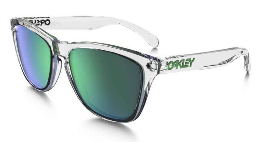 Okulary OAKLEY FROGSKIN Polished Clear / Jade Iridium oo9013-A3