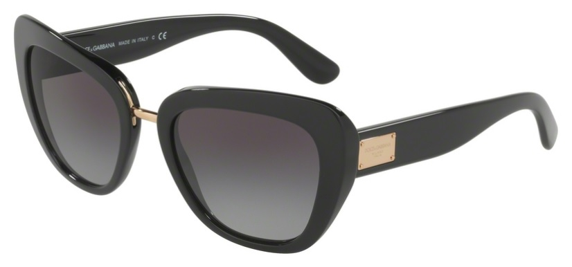 Okulary DOLCE&GABBANA Black / Grey Gradient DG4296-501/8G